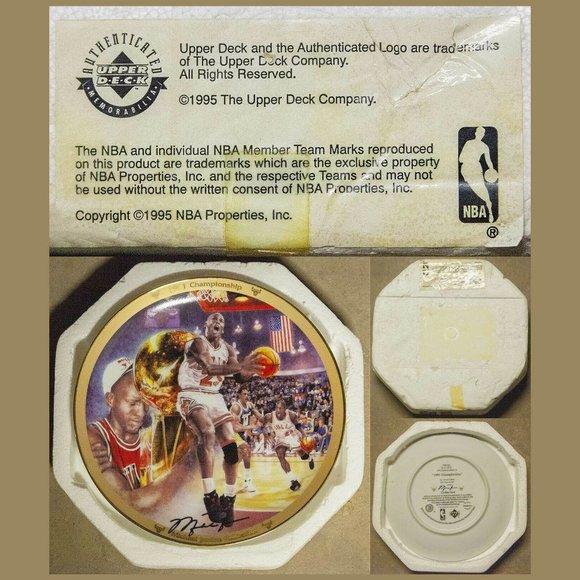 1991 Upper Deck Michael Jordan Championship Plate